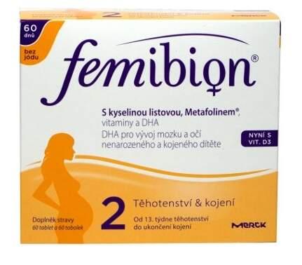 Femibion 2 s vit. D3 bez jódu tbl.60 + tob.60  432493f5ba
