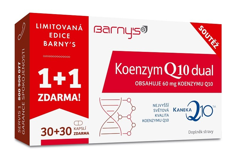 Barnys Koenzym Q10 Dual 60mg cps.30+30 ZDARMA  5cbabce2f2
