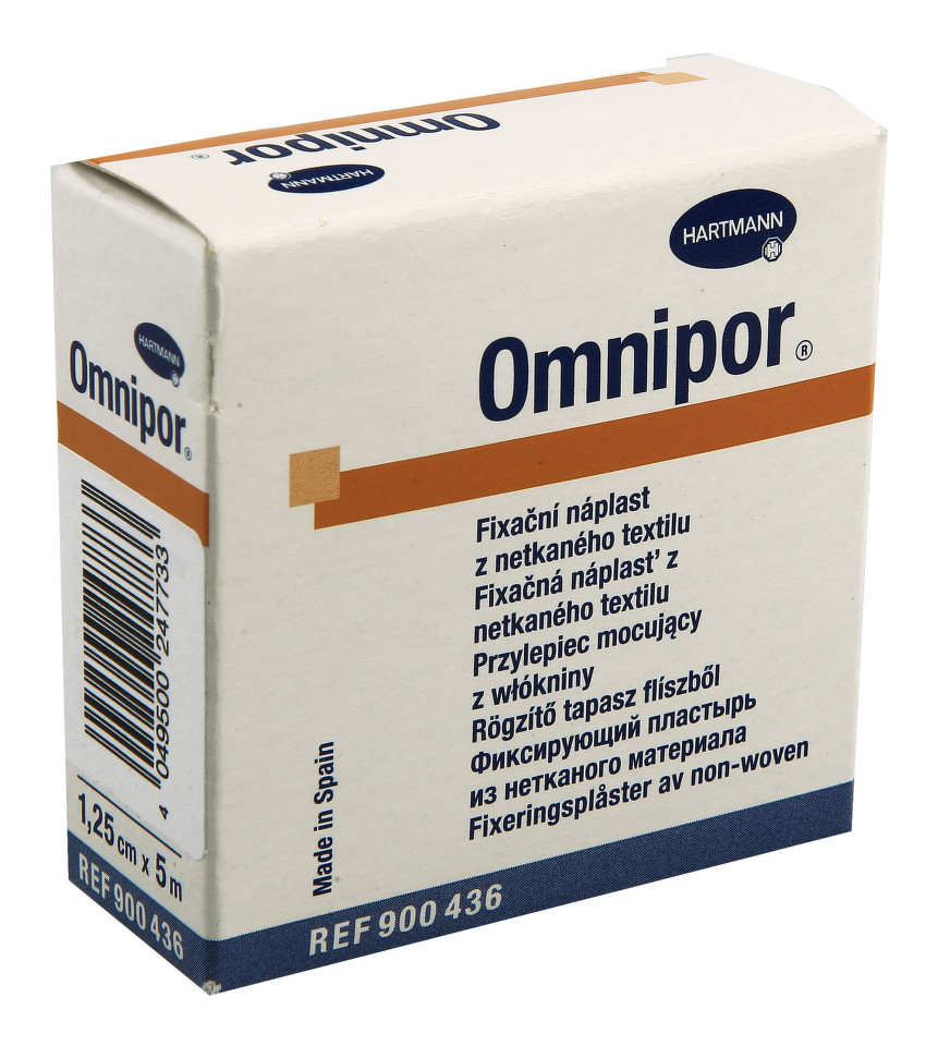 Náplast Omnipor netkaný textil 1.25cmx5m 1ks