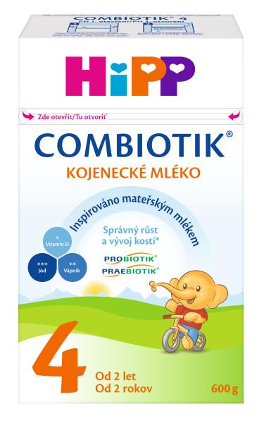 HiPP MLÉKO HiPP 4 JUNIOR Combiotik 600g Při nákupu 4 kusů Hipp Combiotik 2,3,4, 600 g. získate navíc dárek - dětský svačinový hrneček. Akce platí do vyprodání zásob.