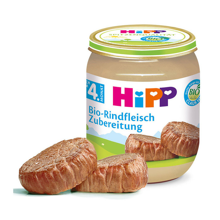 HiPP MASO BIO Hovězí maso 125g