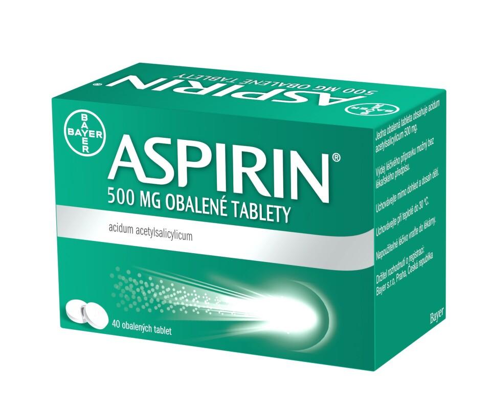 ASPIRIN 500MG obalené tablety 40