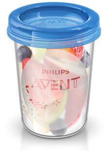 Avent Sada Via pohárků s víčkem 240 ml 5 ks Bílá