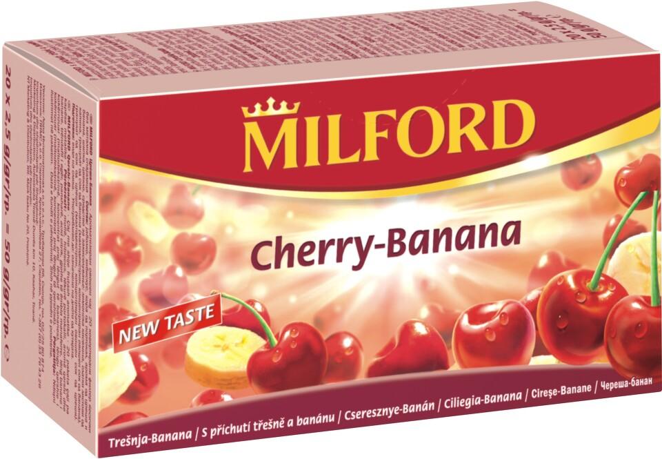 MILFORD ovocný čaj s př.třešeň-banán n.s.20x2.5g