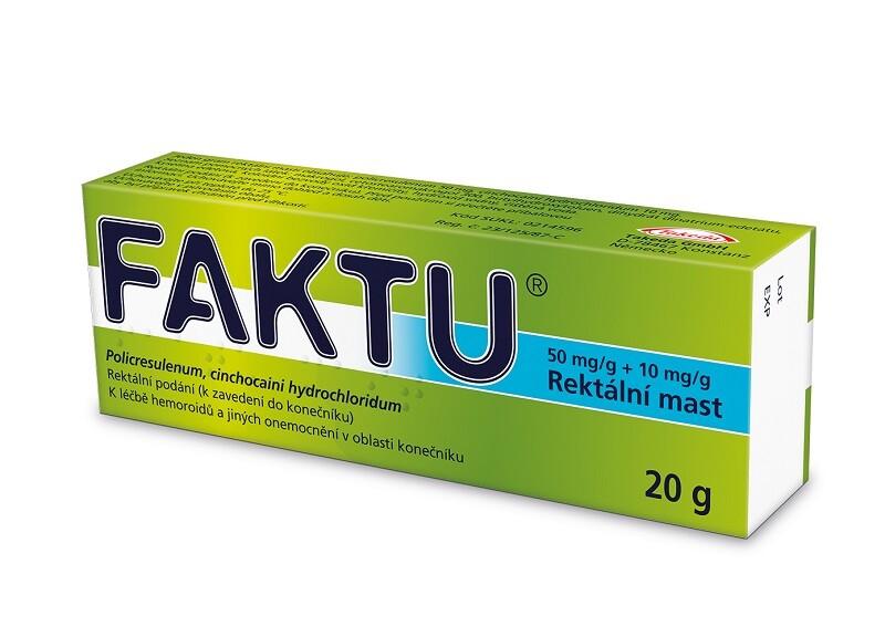 FAKTU 50MG/G+10MG/G rektální UNG 20G