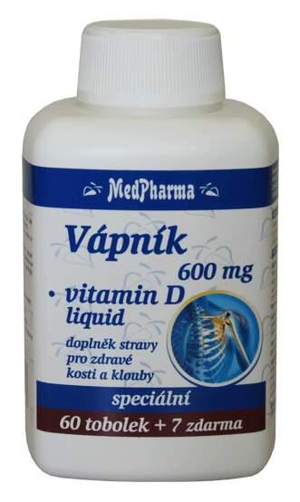 MedPharma Vápník 600mg+vit.D-liquid tob.67