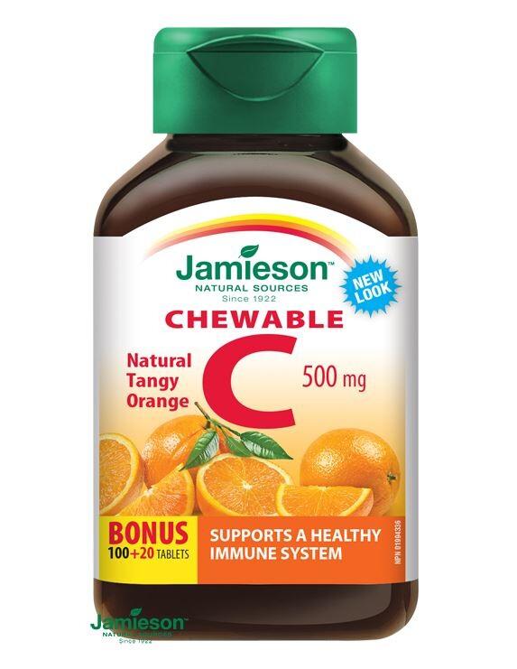 JAMIESON Vitamín C 500mg pomeranč cucací tbl.120