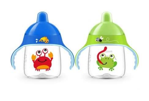 AVENT Hrnek pro 1.doušky Premium 260ml žába/krab