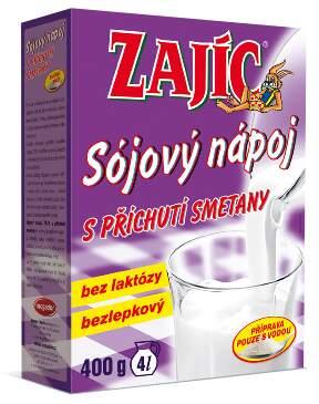 Sójový nápoj Zajíc s příchutí smetany 400g