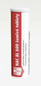 NAC AL 600 ŠUMIVÉ TABLETY 600MG šumivá tableta 20 (2X10)