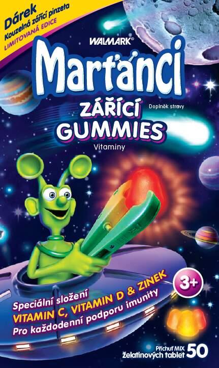 Walmark Marťánci zářící gummies 50ks