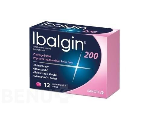 IBALGIN 200MG potahované tablety 12