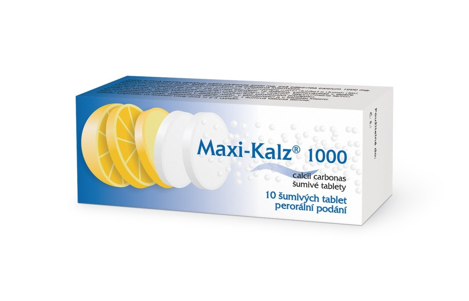 MAXI-KALZ 1000 1000MG šumivá tableta 10