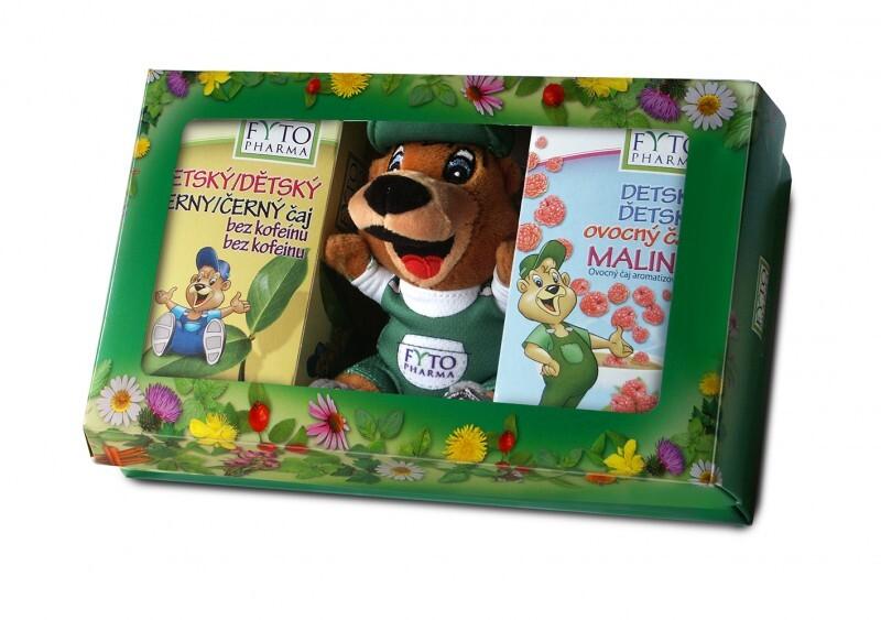Fotografie Dětská dárková kazeta s čaji a hračkou Fytopharma