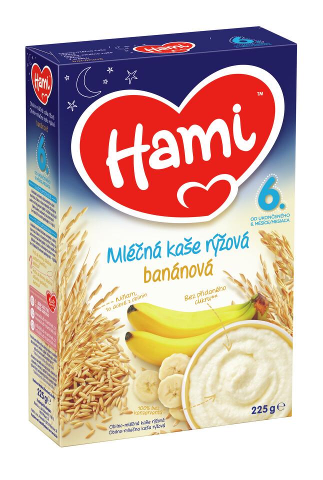 Hami kaše ml.rýžová banánová DN 225g 6M