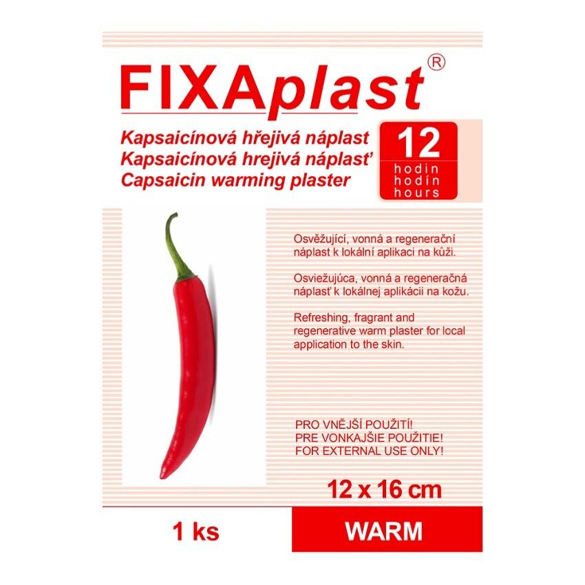 Náplast kapsaicinová FIXAplast WARM 12 x 16cm 1ks