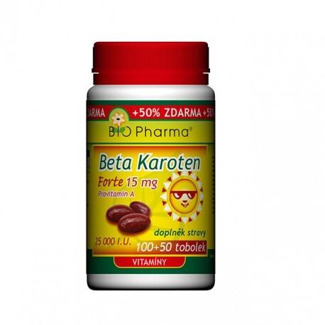 Beta Karoten 25 000 I.U. tob.100+50 Bio-pharma