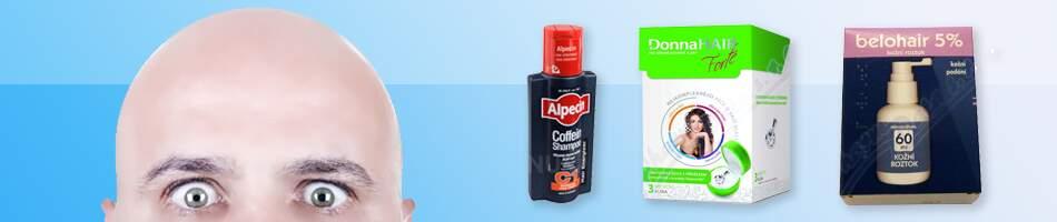 šampóny, balzámy a přípravky proti vypadávání vlasů