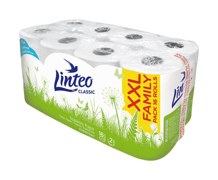 Toaletní papír LINTEO Classic 2 vrst.16 ks