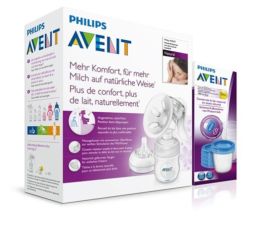 AVENT Odsávačka mat.ml.Natural se zás.125ml+VIA180