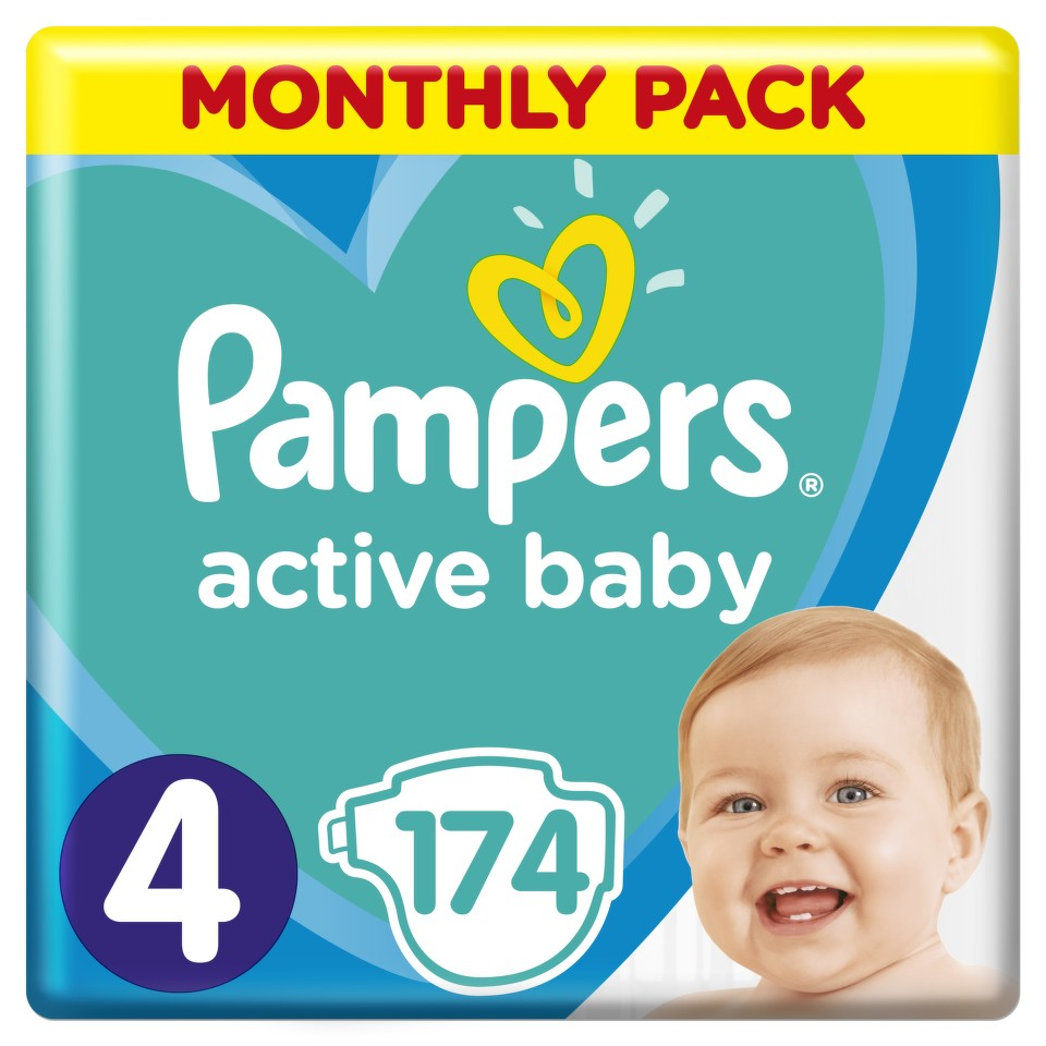 Pampers Active Baby Pleny 4 Maxi 9-14kg 174 ks