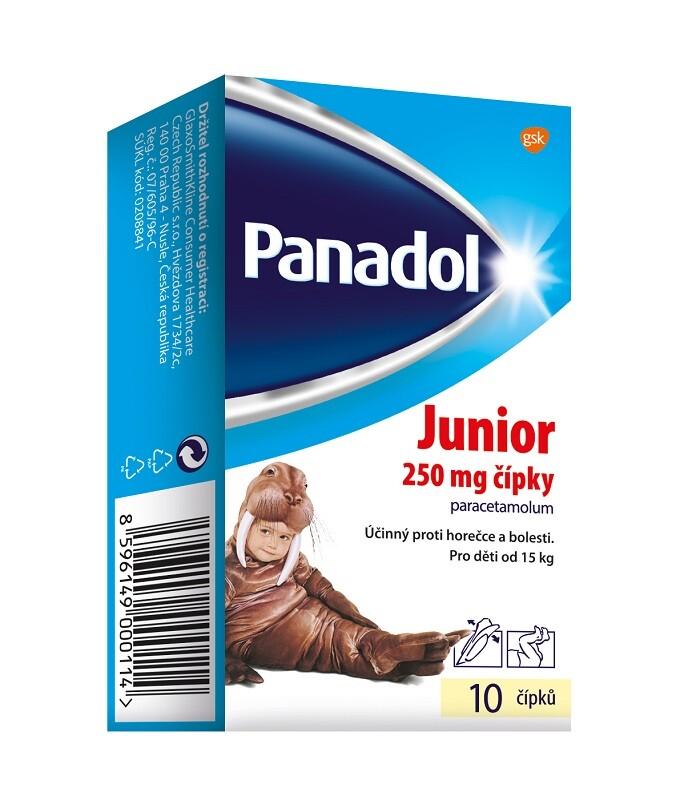 PANADOL JUNIOR 250MG čípek 10