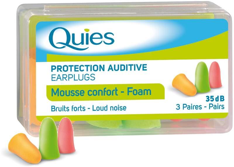 Quies Pěnové chrániče sluchu (3páry)