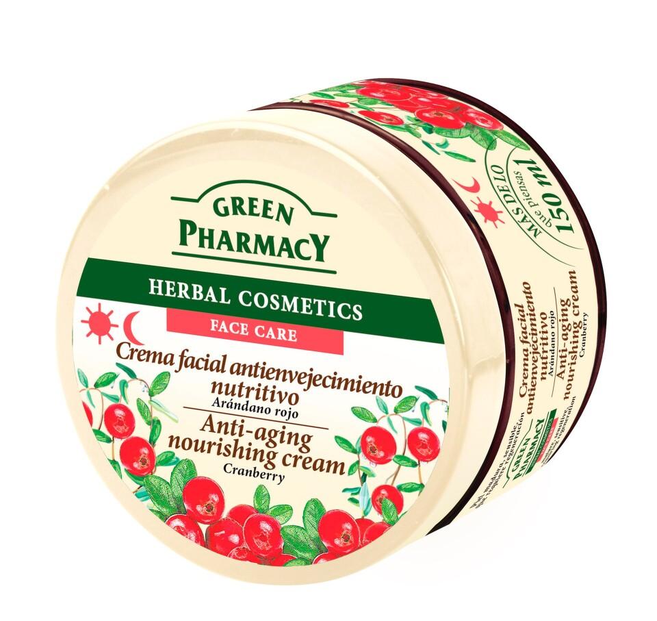 Green Pharmacy Face Care Cranberry výživný krém proti stárnutí pleti (0% Parabens) 150 ml