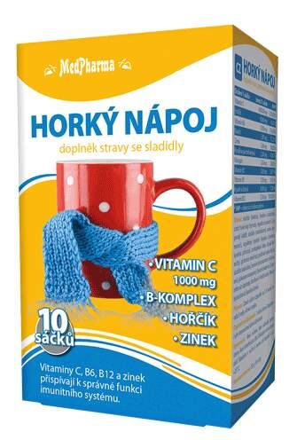 MedPharma Horký nápoj s vitaminem C 10 sáčků