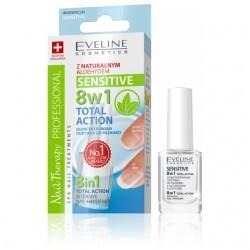 Eveline Cosmetics Total Action zpevňující lak na nehty 8 v 1 12 ml