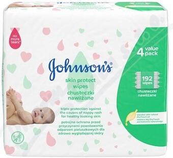 JOHNSONS Skin Protect vlhčené ubrousky 192 ks