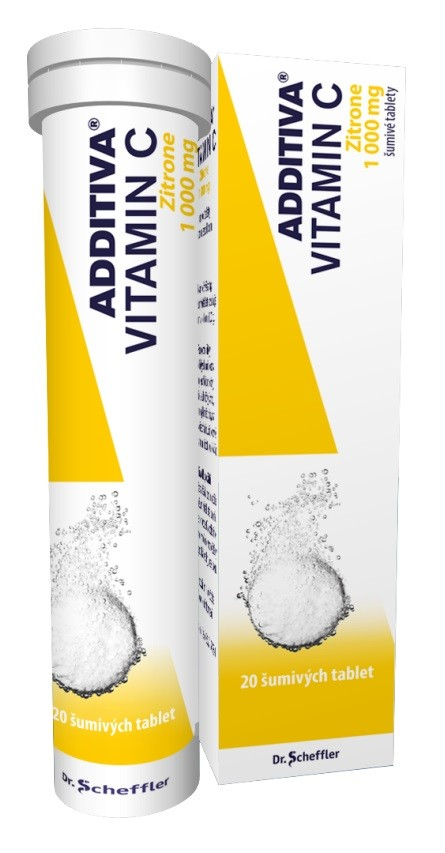 ADDITIVA VITAMIN C ZITRONE 1000MG šumivá tableta 20