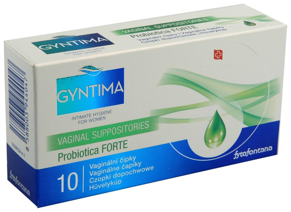 Fytofontana Gyntima vaginál.čípky prob. Forte 10ks
