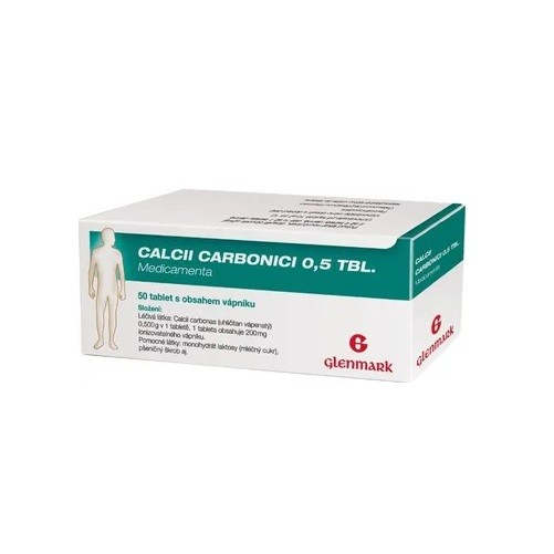 CALCII CARBONICI 0,5 TBL. MEDICAMENTA 0,5G neobalené tablety 50