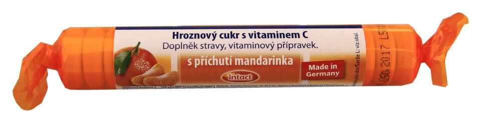 Intact rolička hroznový cukr s vit.C Mandarin.40g