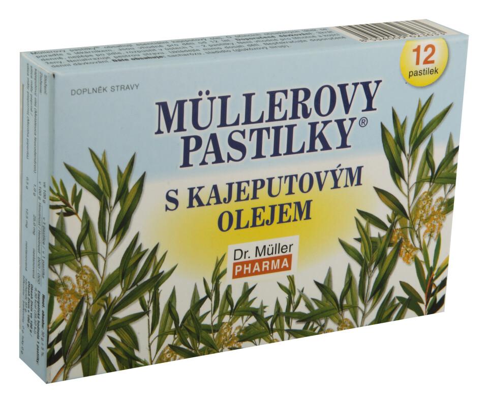 Müllerovy pastilky s kajeputovým olejem 12ks
