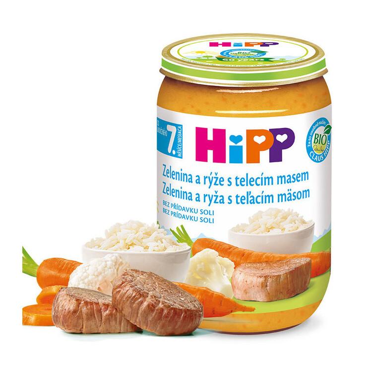 HiPP JUNIOR BIO Zel.s rýží a telec.m. 220g C-93