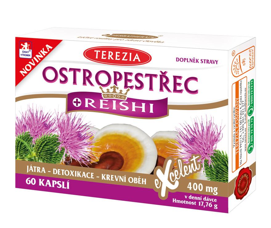 Ostropestřec + Reishi cps.60