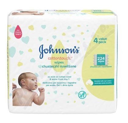 JOHNSON'S® Baby vlhčené ubrousky Extra Sensitive 224 ks