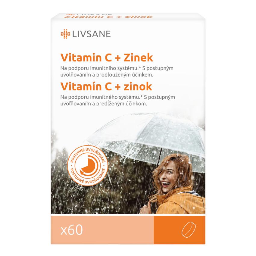 LIVSANE Vitamin C + Zinek vysoká dávka 60ks