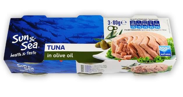 Tuňák v olivovém oleji 3x80g Sun&Sea