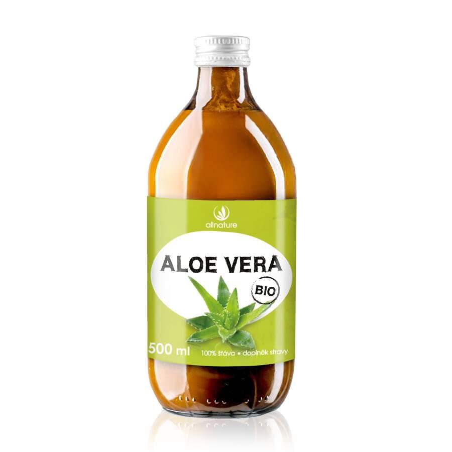Allnature Aloe vera 100% šťáva BIO 500ml