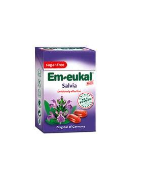 Em-Eukal Šalvěj.dropsy s vit.C bez cukru 40g krab.
