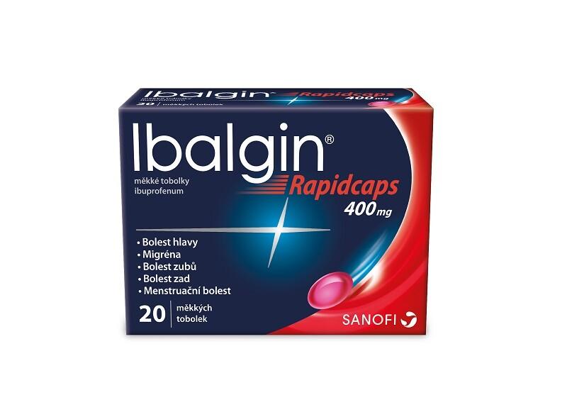 IBALGIN RAPIDCAPS 400MG měkké tobolky 20