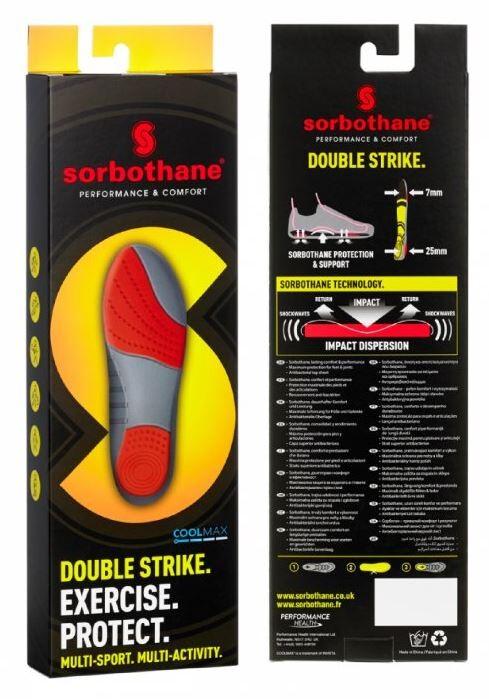 Sorbothane Double Strike gelové vložky do bot v.43
