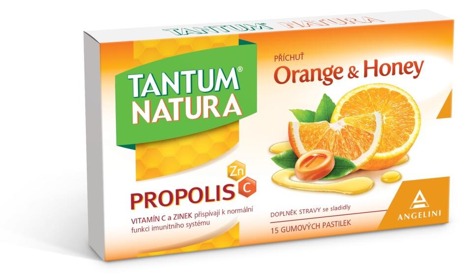 TANTUM NATURA ORANGE & HONEY gumové pastilky 1x15 ks