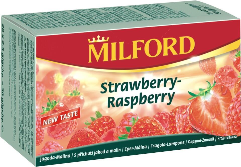 MILFORD Ovocný čaj Jahoda-malina n.s.20x2.25g