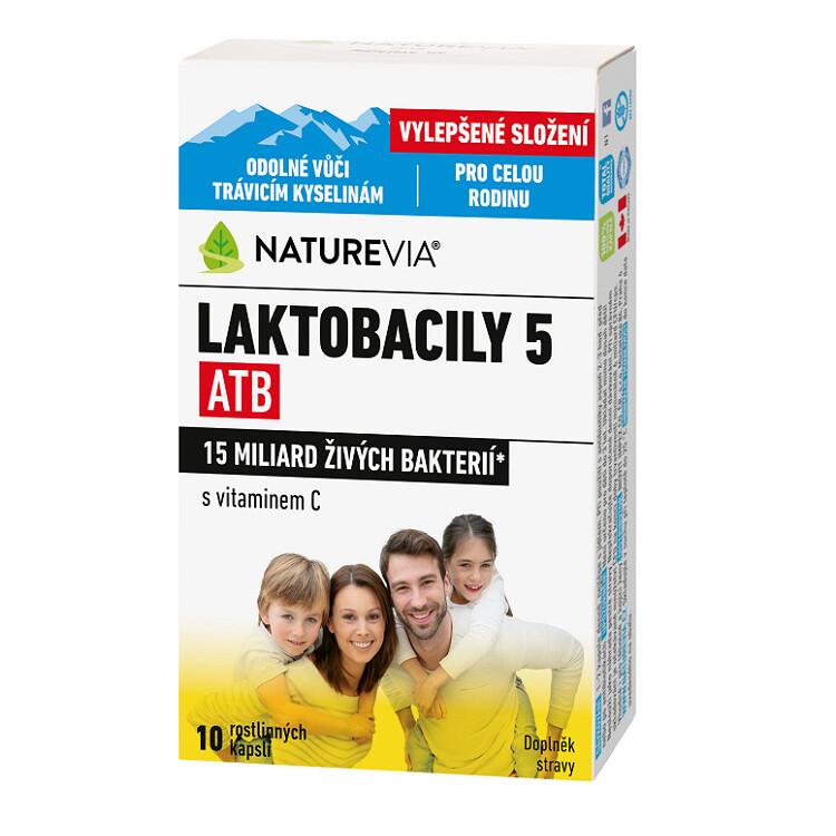 Swiss NatureVia Laktobacily 5 ATB cps.10