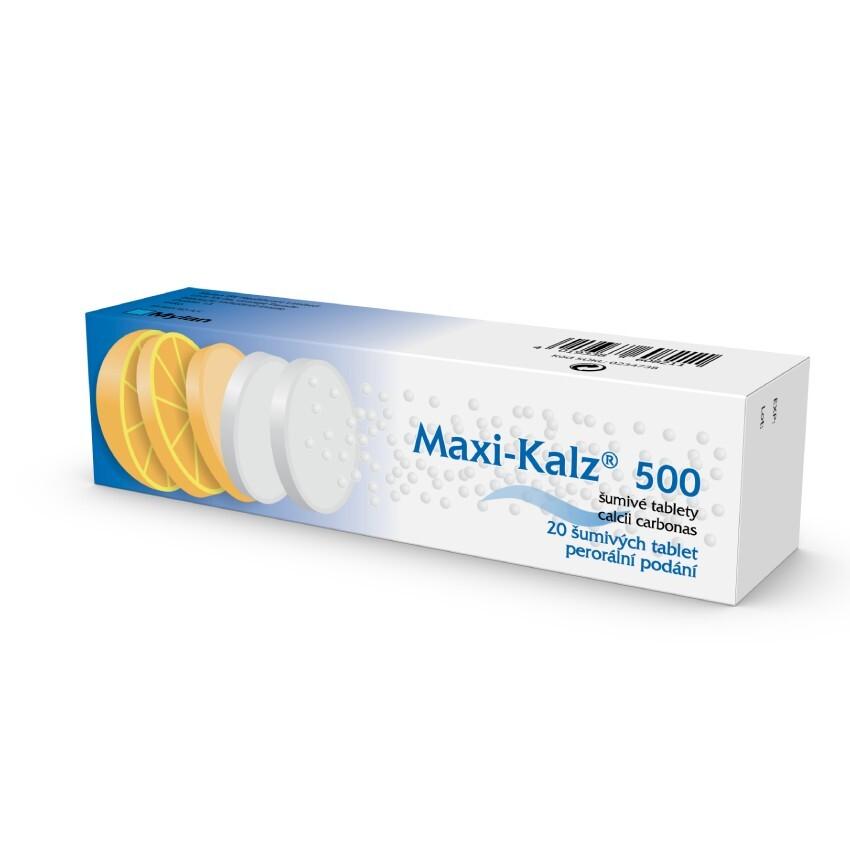 MAXI-KALZ 500 500MG šumivá tableta 20