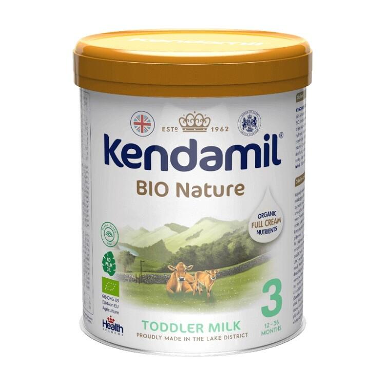 Kendamil Nature batolecí mléko 3 DHA+ BIO Organic 800g